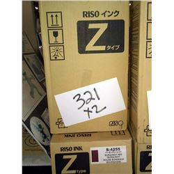 RISO BURGUNDY RED S-4255 Z TYPE U / APPROX. $50.00 NEW