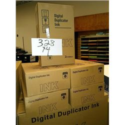BLACK DIGITAL DUPLICATOR INK / APPROX. $50.00 NEW