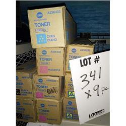 KONICA MINOLTA TONER A33K332 / APPROX. $75.00