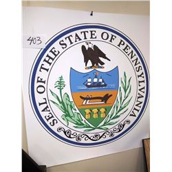 VINYL POSTER OF SEAL OF THE STATE OF PENNSYLVANIA