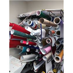 Vinyl Lot: Assorted Sizes, Thickness and Colors / Approx. $100.00 Per Roll, New