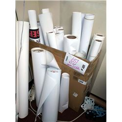 APPROX. 25 ASSTD. PARTIAL ROLLS: LAMINATING FILM, CANVAS PAPER, OTHER