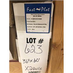 "NEW FAST PLOT 36"" X 60' ART CANVAS - FINE ART WATERPROOF 210G"