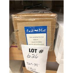 """NEW FAST PLOT 36"""" X 98' COLD LAMINATING FILM, 4 MIL, CLEAR UV"""