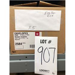 "WESTERN SULPHITE 2584 (10) BUSINESS ENVELOPES 4 1/8"" X 9 1/2"""