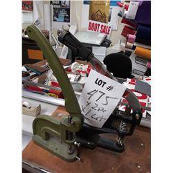 PAIR OF HAND PRESS GROMMET MACHINES
