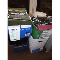 LOT OF FILE CABINET HANGING FOLDER ORGANIZERS, 6 CASES