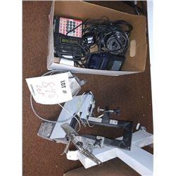 ASSTD LOT: CREDIT CARD MACHINE, CALCULATOR, ELECTRIC STAPLER