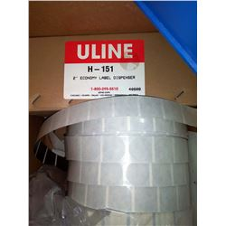 New ULine lable dispenser, with 7x new rolls of label stock