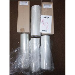 3 FULL NEW ROLLS OF 15 IN X 500 FT SHRINK AND 3 PARTIALS