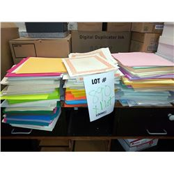 LOT OF ASSORTED COLOR PAPER