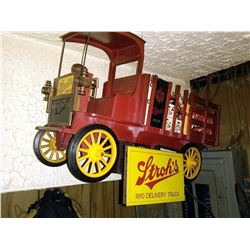 Vintage Stroh's Beer 1910 Delivery Truck, Wall Mount Display