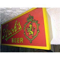 Vintage Lighted Stroh's Beer Sign