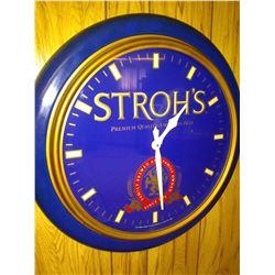 Vintage Stroh's Premium Quality American Beer Clock