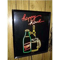 Vintage Happy Hour Sign