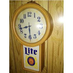 Vintage Miller Lite Lighted Clock