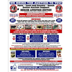 ONLINE SPRING AUCTION, CONSIGN NOW! CONTACT US
