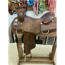 BILLY COOK HAND MADE LONGHORN CUTTING SADDLE / NEW LIST $2,400.00