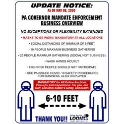 SOCIAL DISTANCING & SAFETY / UPDATE NOTICE