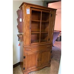 HARD ROCK MAPLE COUNTRY HUTCH - NO GLASS