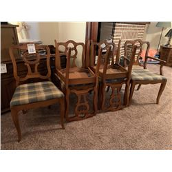 SIX MATCHING DINING ROOM CHAIRS