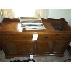 LARGE STEREO CABINET, INCLUDES LPS