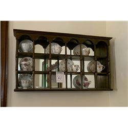 WALL DISPLAY WITH CUPS AND SAUCERS INCLUDED