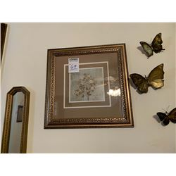 FRAMED ART WITH BUTTERFLY DECOR