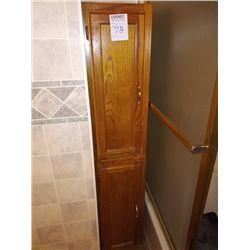 NARROW OAK 2 DOOR CABINET