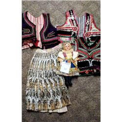 VINTAGE DOLL, WITH TRADITIONAL DANCE COSTUMES