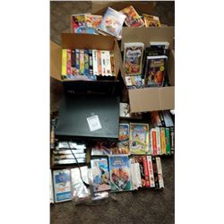 HUGE LOT OF CLASSIC VHS TAPES, WITH VCR