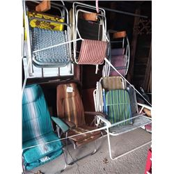 LOT OF LAWN CHAIRS, IN GOOD CONDITION