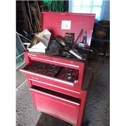CRAFTSMAN ROLLING TOOL CABINET AND TOOLS, LOTS OF CRAFTSMAN WRENCHES