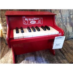 """VINTAGE WOODEN TOY PIANO """"MY FIRST PIANO"""" BY JAYMAR"""
