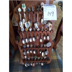 SPOON COLLECTION: DISPLAY RACK AND SPOONS