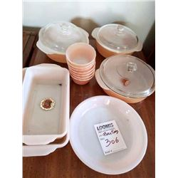 VINTAGE ANCHOR HOCKING FIRE KING COPPER TINT OVENWARE