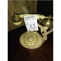 ANTIQUE TELEPHONE AND SHELF LOT
