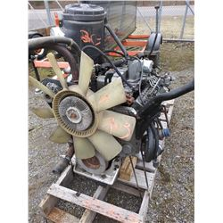 CUMMINGS 5.9 / FORD  DIESEL ENGINE W 5 SPEED TRANSMISSION /GOOD