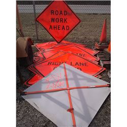 "48""x 48"" Portable Traffic Control Signs (Asst)"