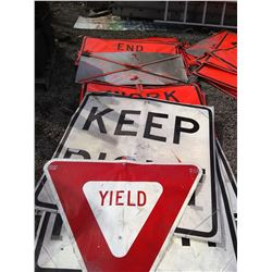 "48""x 48""  & Other Sizes Portable Traffic Control Signs (Asst)"
