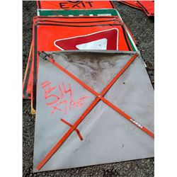 Traffic Control  Signs Large Size / Asst Lot