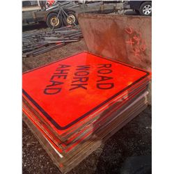 Large Asst of Traffic Control Signs X 30 pcs