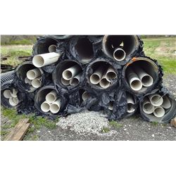 """WHITE PVC DRAIN PIPE APPROX 20FT X    """"  PLAIN ENDS / OVER $125.00 NEW"""