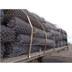 15 X ROLLS OF 6 FT x APPROX 50 FT USED CHAIN LINK FENCING / LOCATION #2