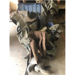 LARGE LOT OF WADERS / HIP BOOTS MANY PAIR