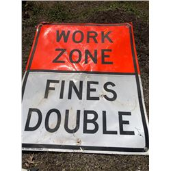 Large Retangle Work Zone Signs