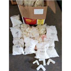 LOT OF ASSORTED NEW PVC ELBOWS, APPROX 200 PCS