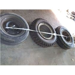 LOT OF 3 MOUNTED TIRES