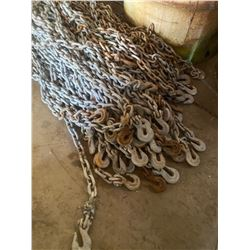 6 FT. LENGTH - 3/8 AND 5/16 IN. CHAIN W/ HOOKS