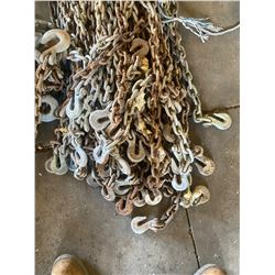 6 FT. LENGTH - 3/8 AND 5/16 IN. CHAIN W/ 3 HOOKS